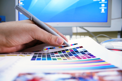 עיצוב גרפי בבית הדפוס